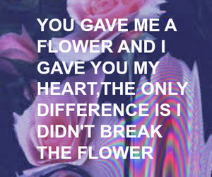 flowers, grunge, and heartbreak image