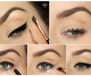 eyeliner, eyes, and tutorial image