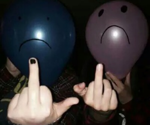 balloons, you, and fuck image