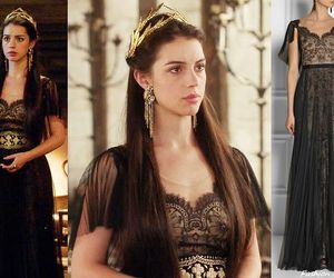 reign, dress, and Queen image