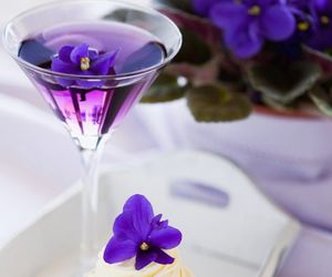 drinks, flower, and food image