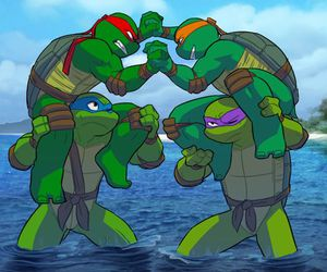 donnie, tmnt, and raph image