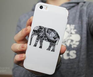 iphone, elephant, and white image