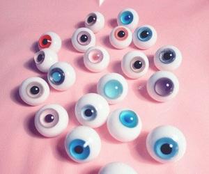 eyes, pink, and grunge image