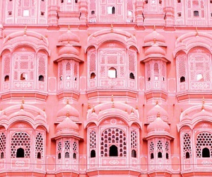 pink, architecture, and building image