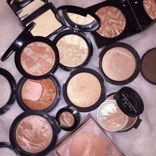 makeup, beauty, and highlighter image