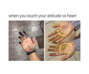 heart, gold, and attitude image
