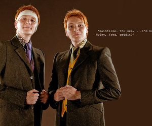 harry potter, Fred, and ginger image