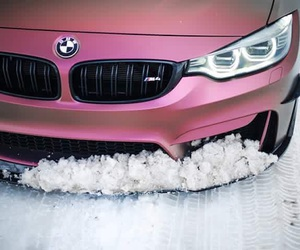 bmw, pink, and m4 image