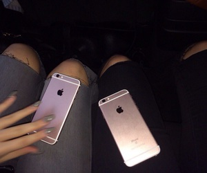 iphone, dark, and pink image