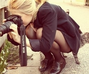 blonde, girl, and camera image