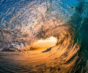 sea, surfers, and waves image