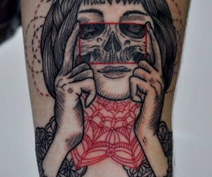 hand, red and black, and permanent image