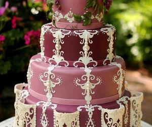 cake, fancy, and dessert image