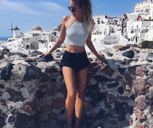 girl, summer, and style image
