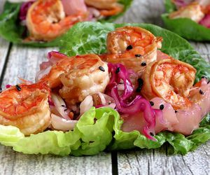shrimp, food, and healthy image