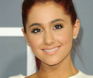 ariana grande, smile, and hair image