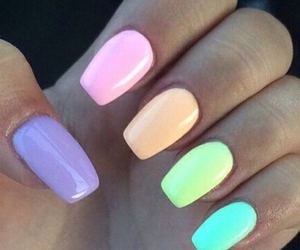 nails, colors, and pink image