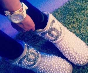 chanel, boots, and shoes image