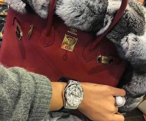 luxury, bag, and fur image