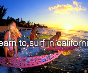california, before i die, and surf image