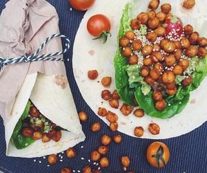 vegan, healthy food, and chick peas image