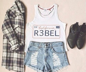 outfit, fashion, and rebel image