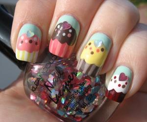 nails, cute, and cupcake image