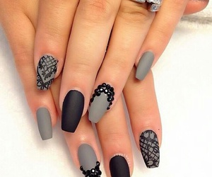 nails, black, and grey image
