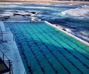 pool, beach, and sea image