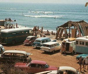 beach, summer, and vintage image