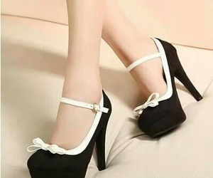 black & white, high heels, and classic image