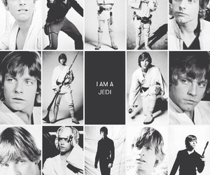1970s, black and white, and luke skywalker image