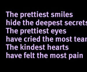 smile, quote, and eyes image