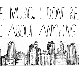 music, quote, and city image