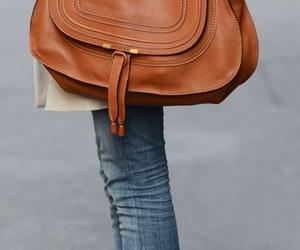 leather bag, bag, and brown image