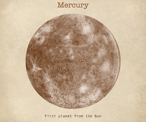 mercury, planet, and art image