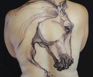 back, black, and horse image