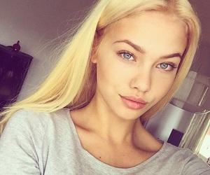 blonde, girl, and eyes image