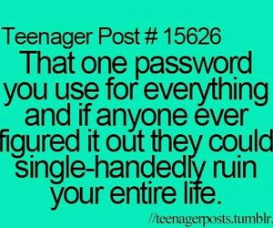 password, funny, and true image
