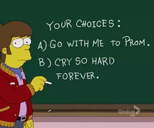 Prom, simpsons, and cry image