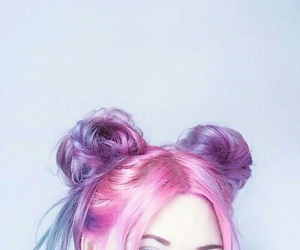 hair, pink, and grunge image