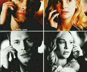 the vampire diaries, klaus mikaelson, and caroline forbes image
