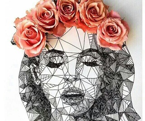 art, lana del rey, and flowers image