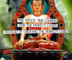 love, Buddha, and happiness image