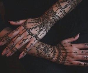 henna, tattoo, and design image
