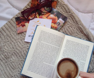 autumn, book, and caffee image