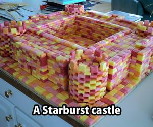 candy, funfood, and starburst image