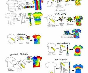 diy, tie dye, and shirt image