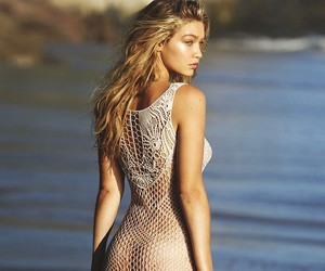 gigi hadid, model, and beach image